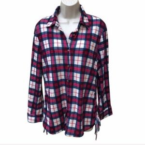 EDEN AND OLIVIA Plaid Button Up Shirt Large